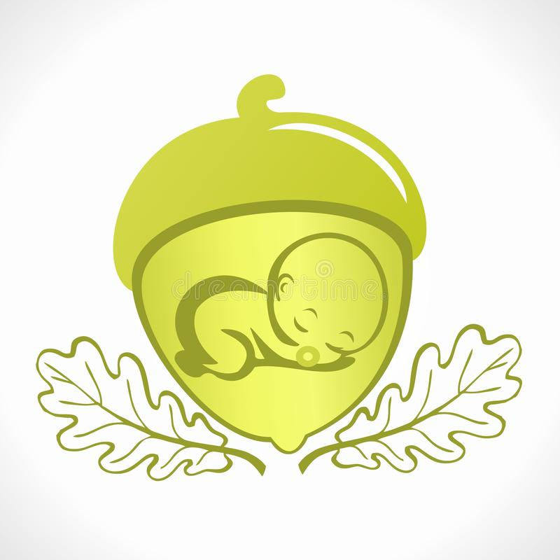 Pregnancy logo (icon) stock illustration