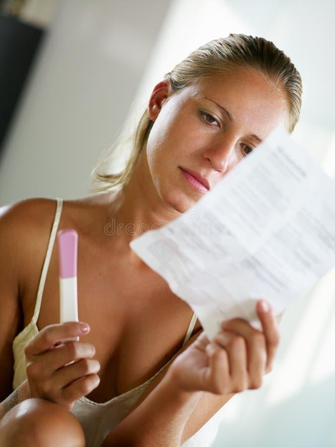 Pregnancy test royalty free stock photos
