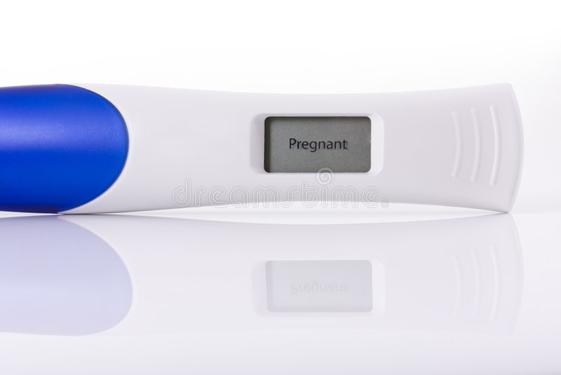 Pregnancy test royalty free stock photo