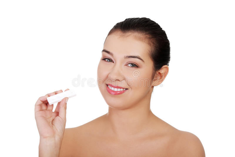 Download Pregnancy Test - Happy Surprised Woman Stock Photo - Image of beautiful, birth: 28208452