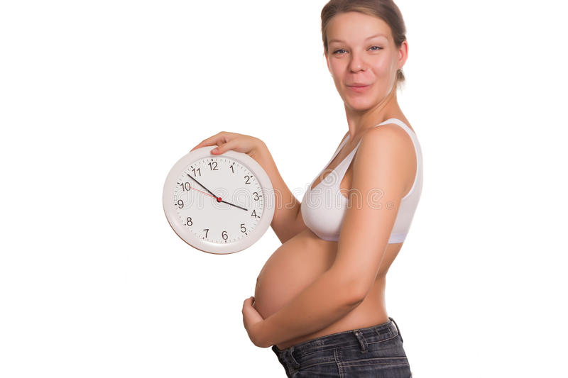 Download Pregnancy times stock image. Image of date, clock, expectation - 27159371