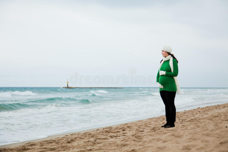Download Pregnancy Winter Autumn Outdoor Stock Image - Image: 16328585