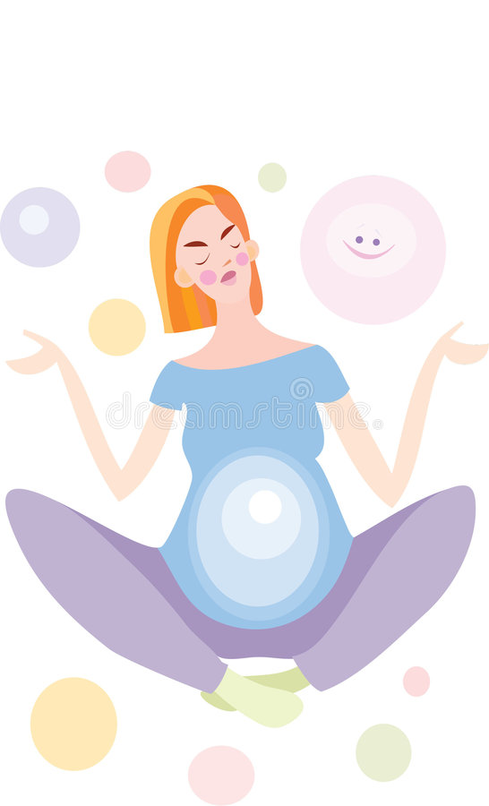 Download Pregnancy and yoga stock illustration. Image of happiness - 4921613