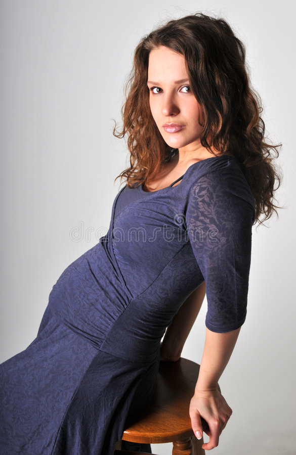 Pregnant. A portrait of beautiful pregnant women royalty free stock photo