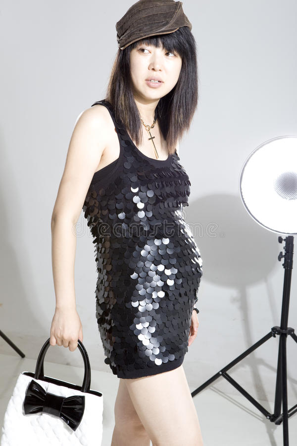 Download Pregnant Asia Fashion Woman Stock Photo - Image: 11925466