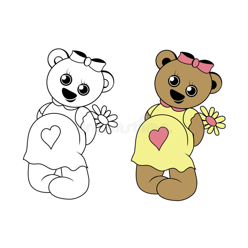 Pregnant bear royalty free stock photo