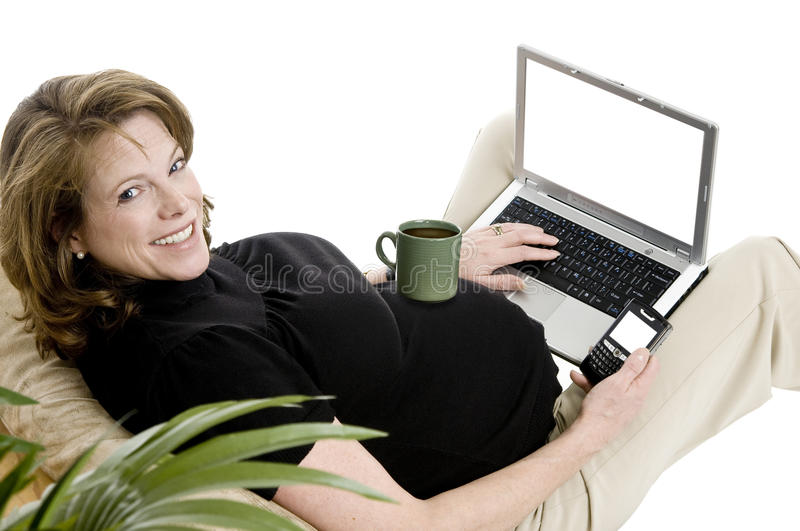 Pregnant business woman royalty free stock photos