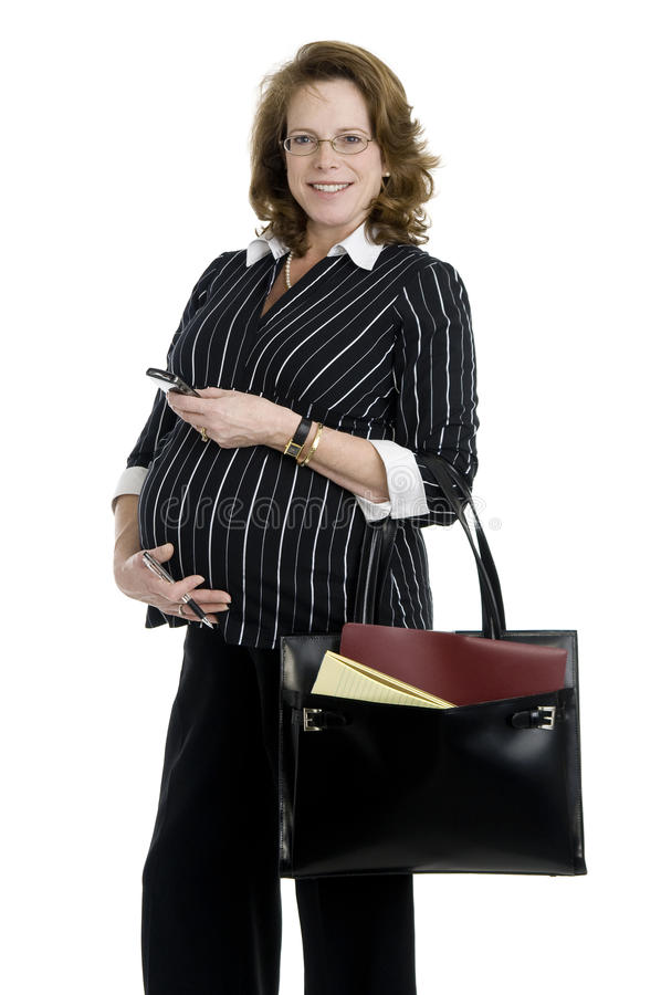 Pregnant Business Woman Stock Image