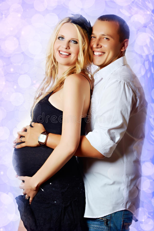 Pregnant couple stock illustration