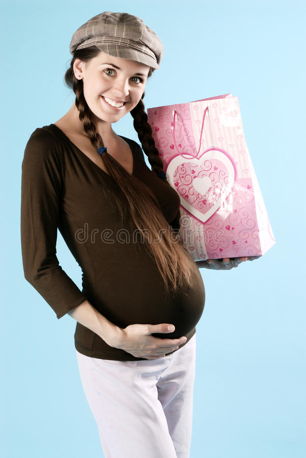 Download Pregnant female stock photo. Image of charming, born - 10505176