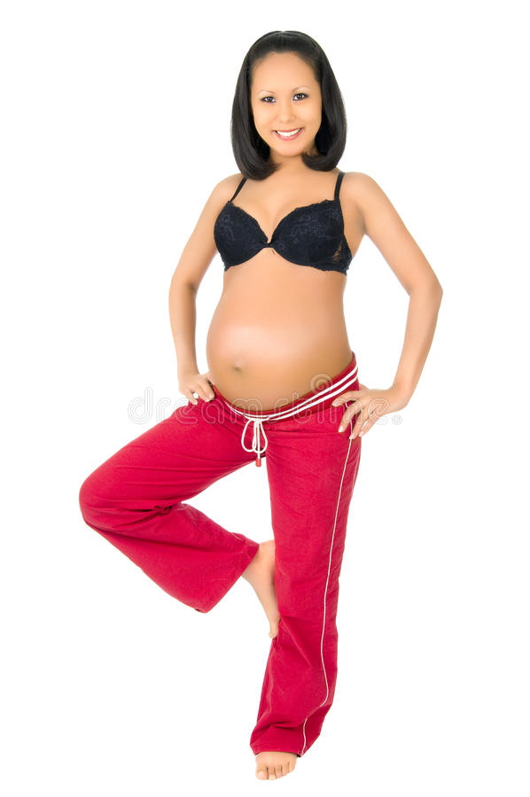 Pregnant girl stock photography