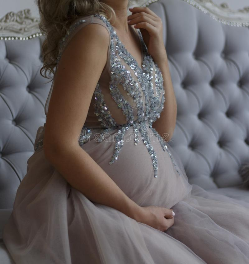 Pregnant girl royalty free stock photography