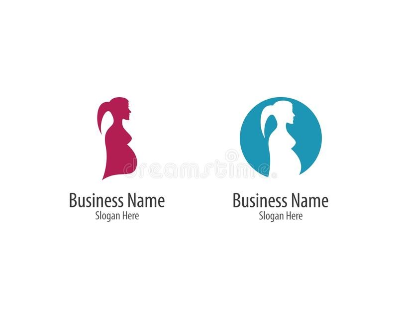 Pregnant logo template vector illustration