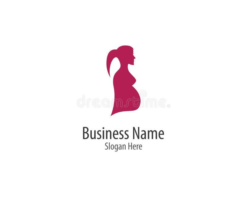 Pregnant logo template royalty free illustration