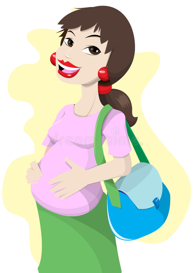 Download Pregnant Mom Royalty Free Stock Photos - Image: 15881688
