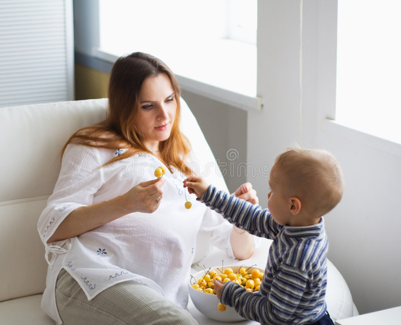 Download Pregnant mother and baby stock image. Image of child, foster - 942697
