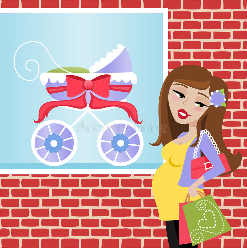 Download Pregnant Shopper stock vector. Illustration of mommy - 39315674