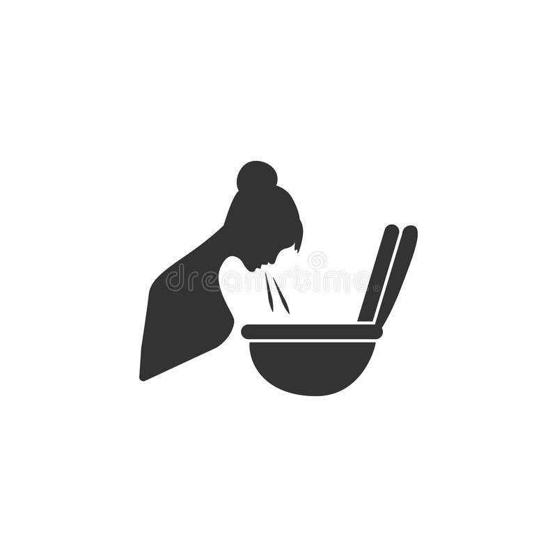 Pregnant Vomiting icon. Simple element illustration. Pregnant Vomiting symbol design from Pregnancy collection set. Can be used in. Web and mobile on white royalty free stock image