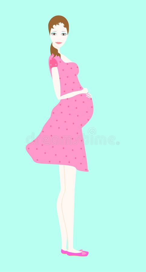 Pregnant woman vector illustration