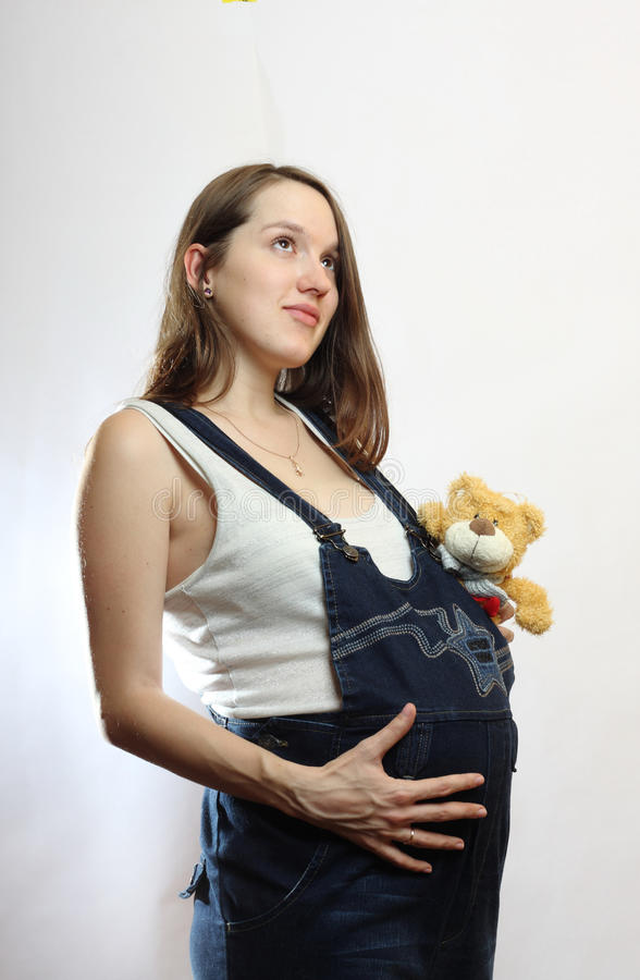 Download Pregnant woman stock photo. Image of hand, gestation - 13629258