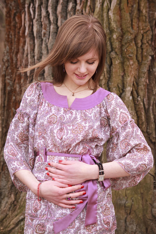 Download Pregnant woman stock photo. Image of isolated, caucasian - 18971564