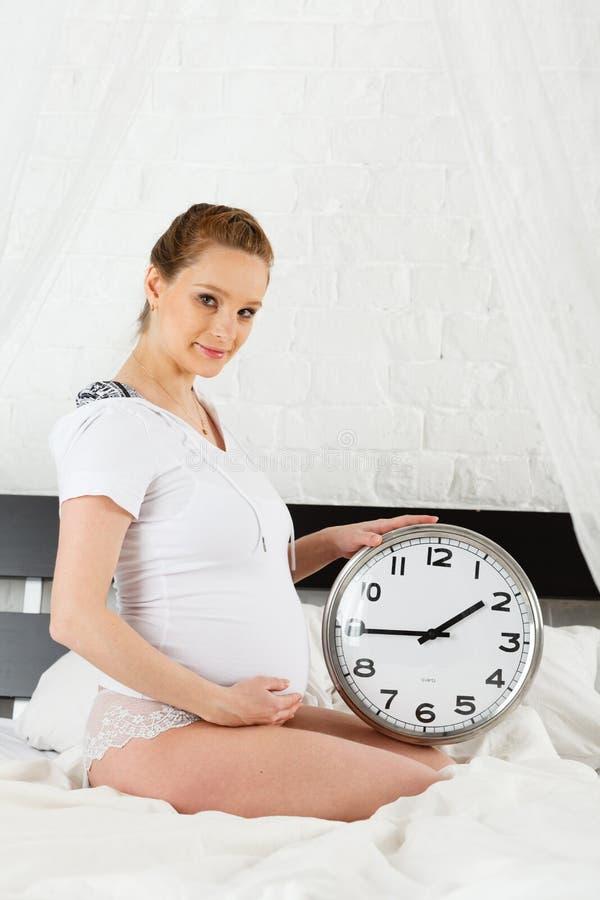 Download Pregnant woman. stock photo. Image of bedroom, motherhood - 28883684