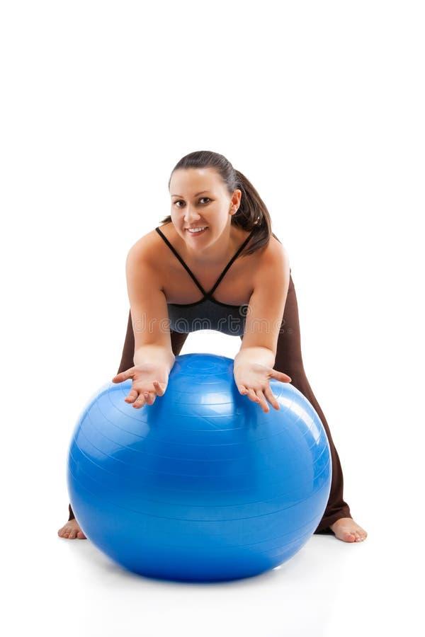 Download Pregnant Woman Doing Exercises Stock Image - Image of abdomen, motherhood: 23875279
