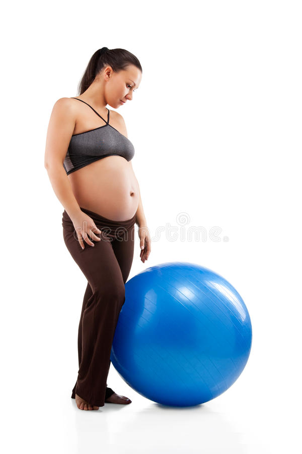 Download Pregnant Woman Doing Exercises Stock Photo - Image of female, caucasian: 23875420