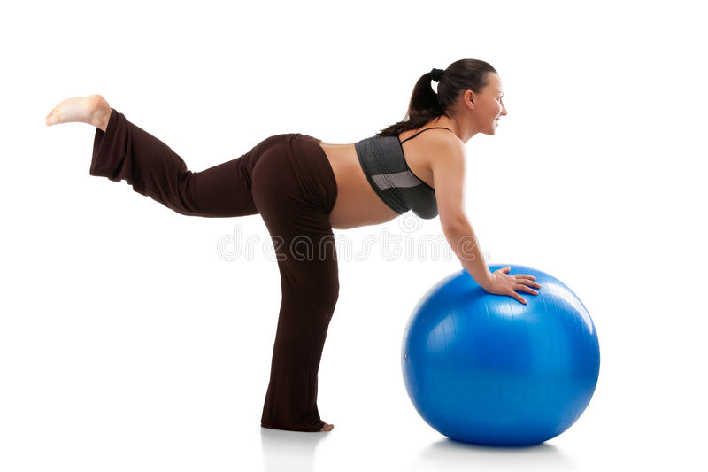 Download Pregnant Woman Doing Exercises Stock Photo - Image of maternity, background: 23875562