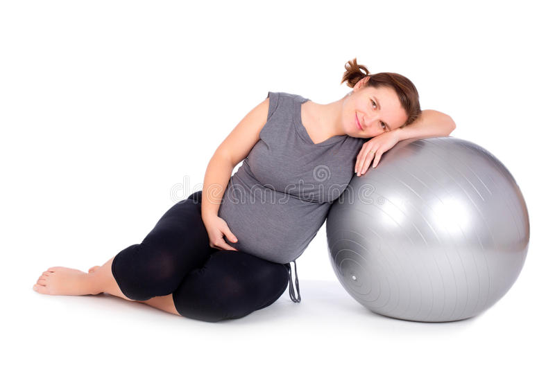 Download Pregnant Woman Exercising Stock Photo - Image: 29221480