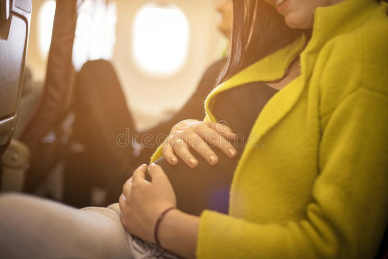 Expecting a baby. stock photography