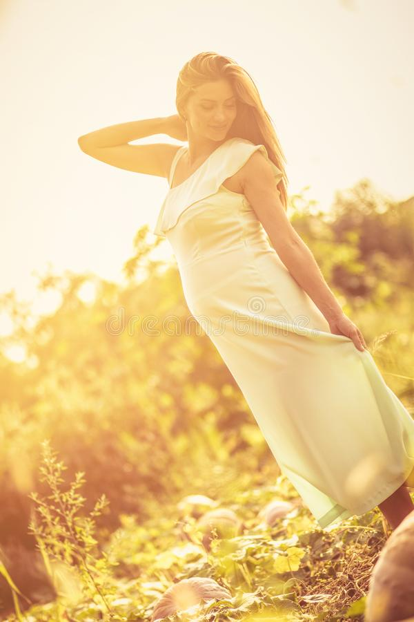 Pregnant woman gives beautiful glow and beauty. stock photos