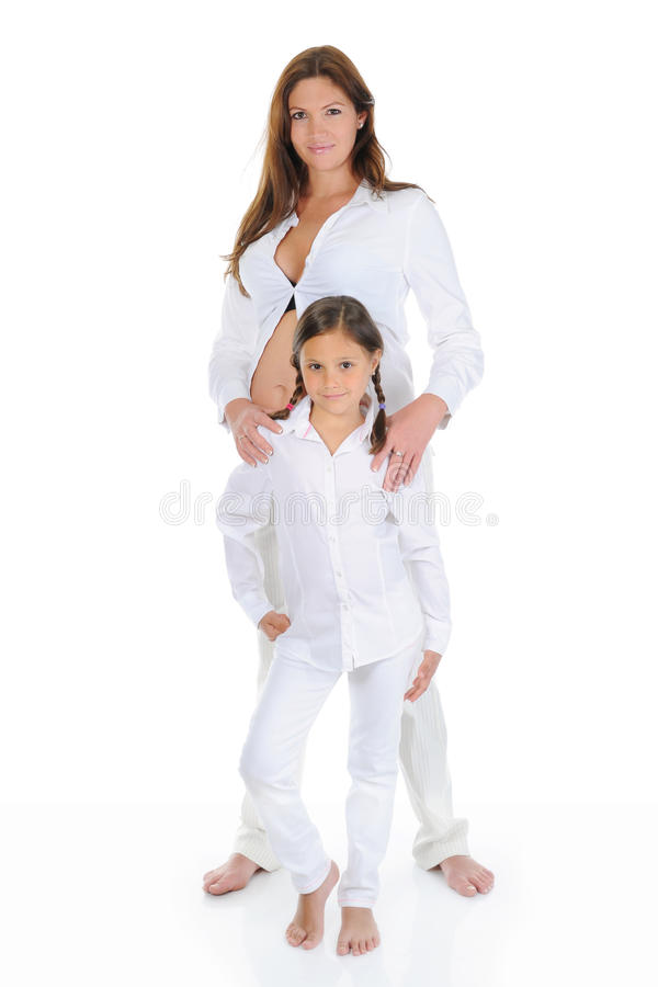 Download Pregnant Woman With Her Daughter Stock Photo - Image: 19998740