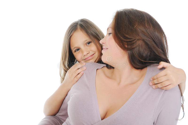 Download Pregnant Woman With Her Daughter Stock Image - Image of face, girl: 21870381