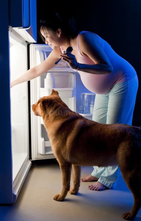 Pregnant woman midnight snack