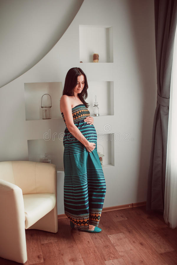 Download Pregnant woman stock photo. Image of interior, abdomen - 34282910