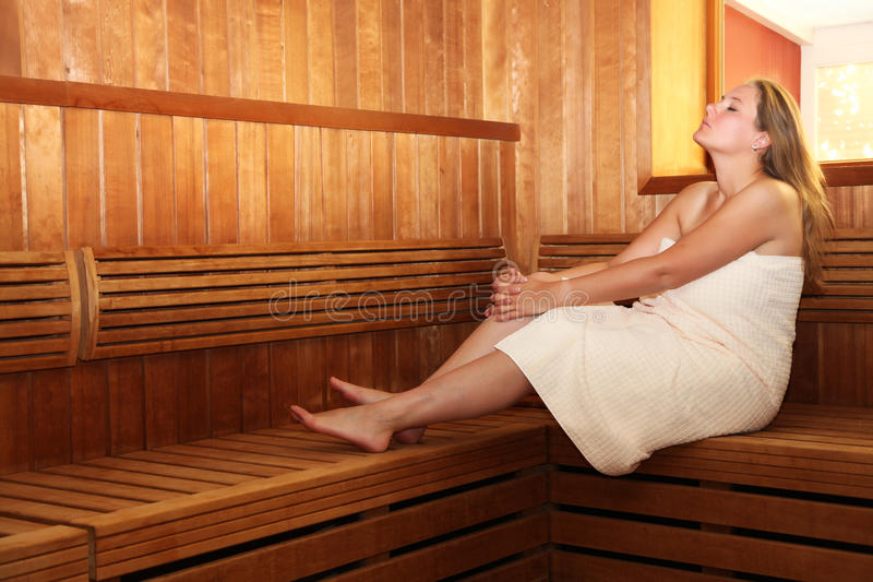pregnant woman in sauna royalty free stock photos image 14983068. Black Bedroom Furniture Sets. Home Design Ideas