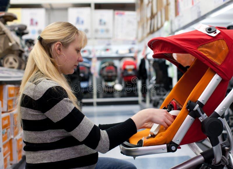 Pregnant Woman Shoping Stock Photos