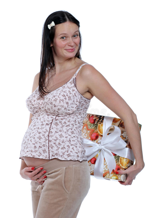 Pregnant young woman stock images