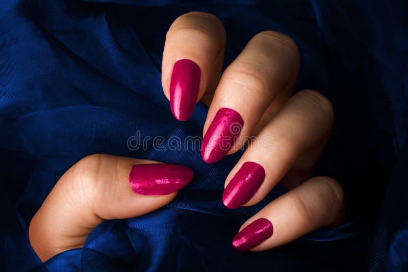 Pregos cor-de-rosa fotografia de stock