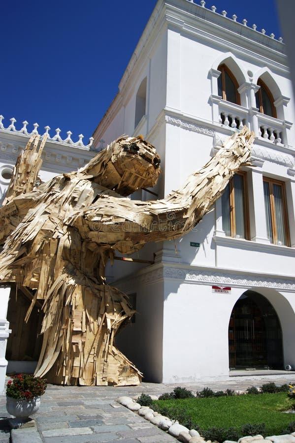 preguiça 2-Story no museu da História de Quito foto de stock