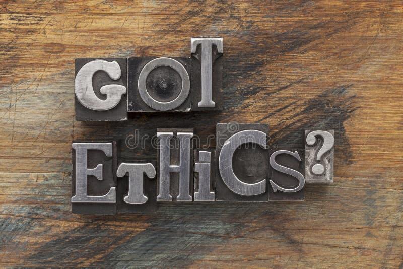Pregunta conseguida de los éticas fotos de archivo