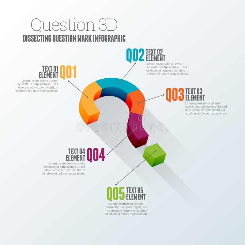 Pregunta 3D Infographic ilustración del vector