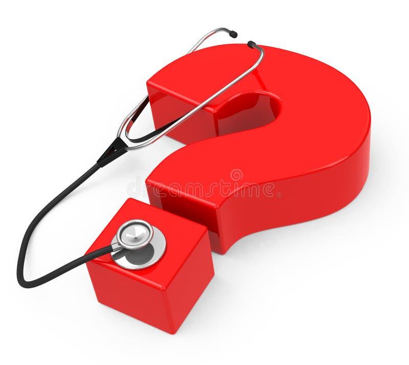 Pregunta de la atención sanitaria stock de ilustración