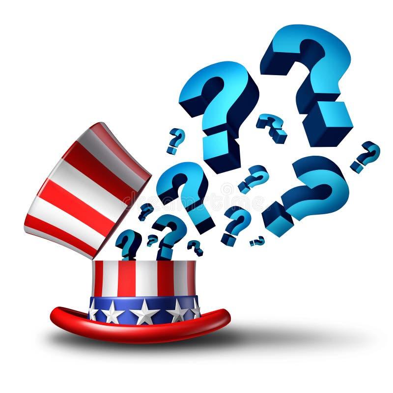 Pregunta de la elección de Estados Unidos stock de ilustración