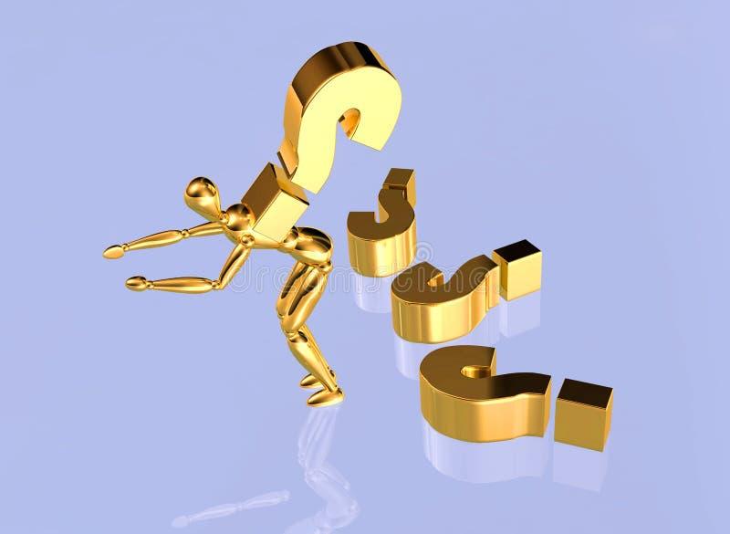 Pregunta de oro ilustración del vector