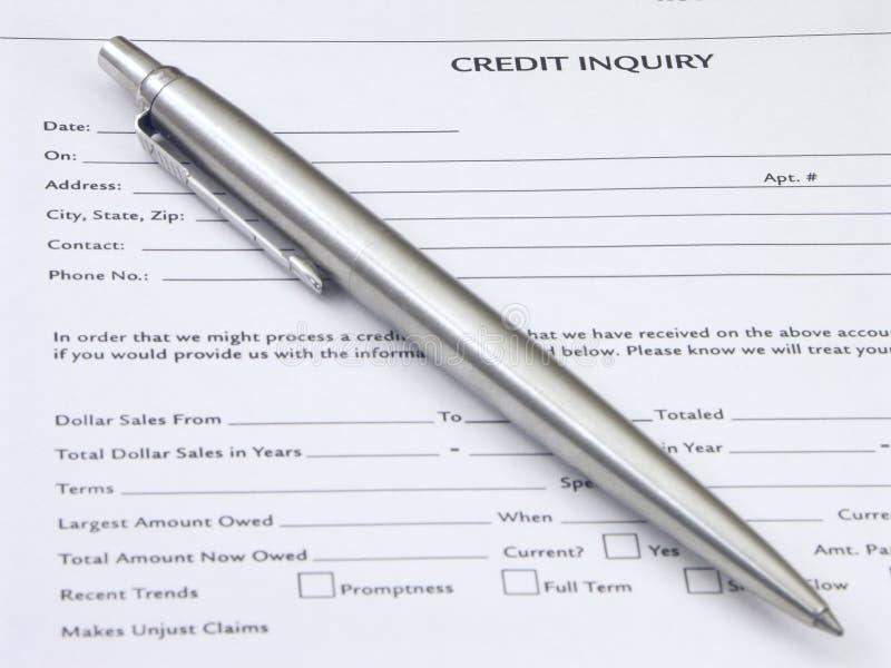 Pregunta del crédito fotos de archivo libres de regalías
