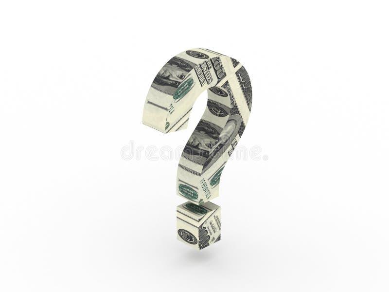 Pregunta del dinero stock de ilustración