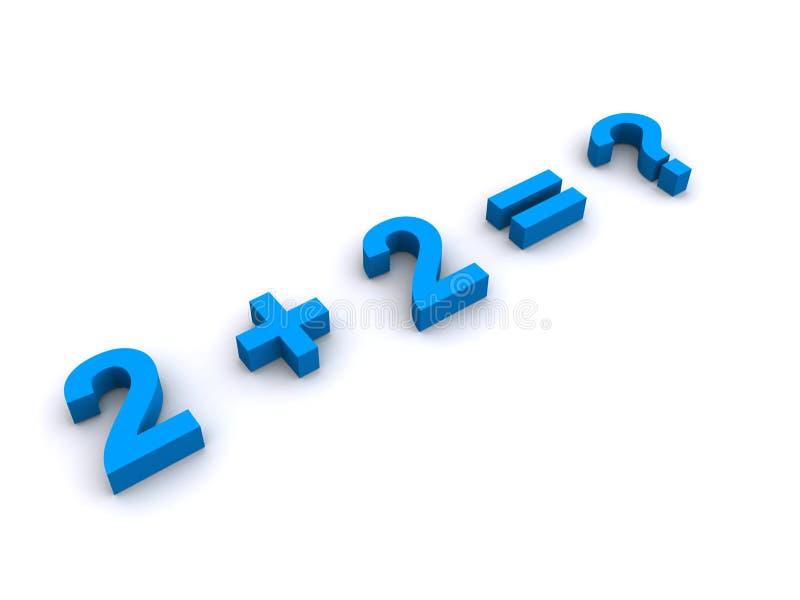 Pregunta fácil de las matemáticas ilustración del vector