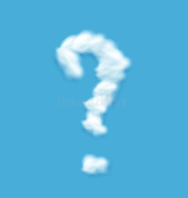 Pregunta Mark Shaped Cloud stock de ilustración